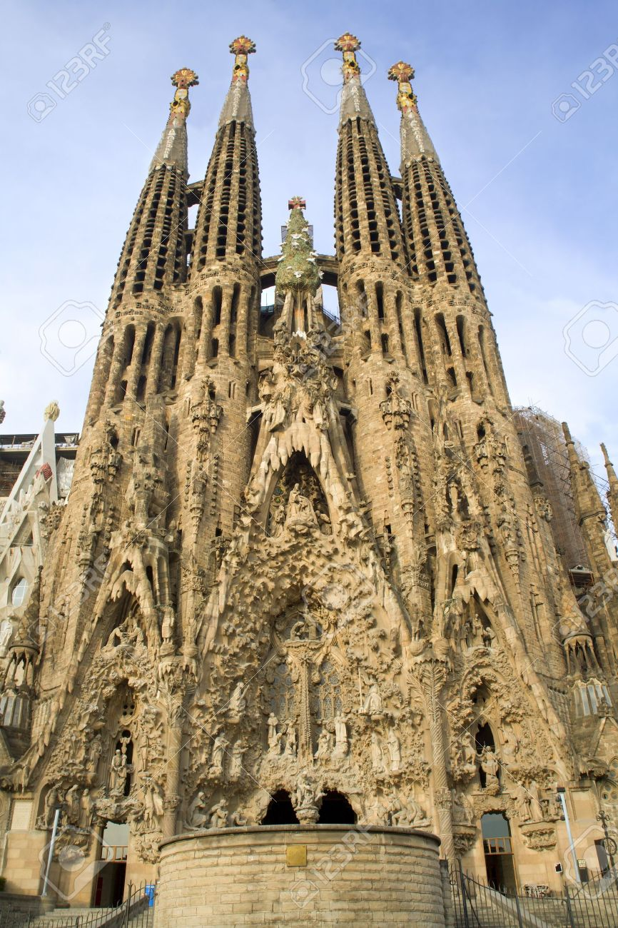 Barcelona Cathedral Sagrada La Familia Stock Photo Picture And Royalty Free Image Image 9697661