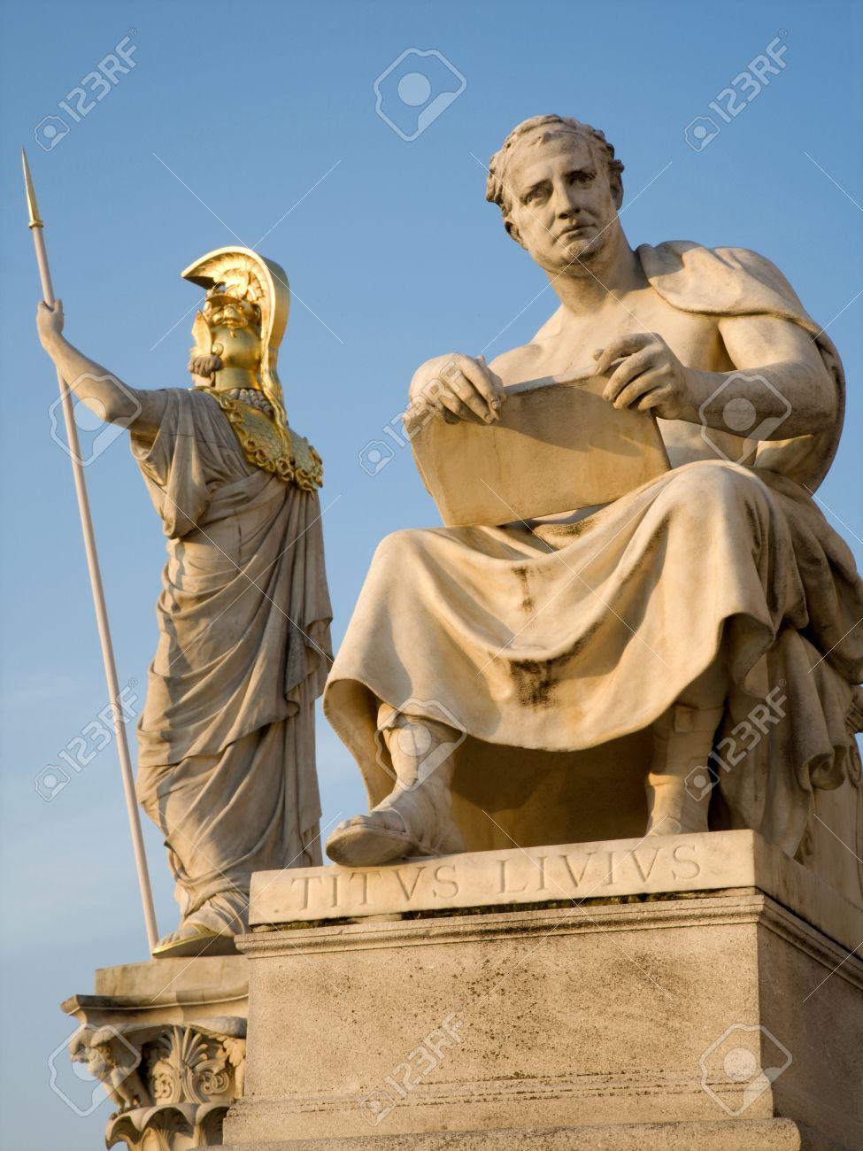 Vienna - Titus livius statue and Athena funtain Stock Photo - 11798067