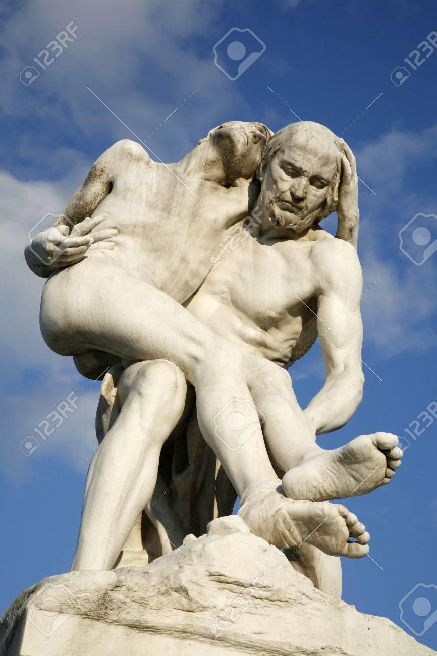 paris statue of the good samaritan by francois leon sicard