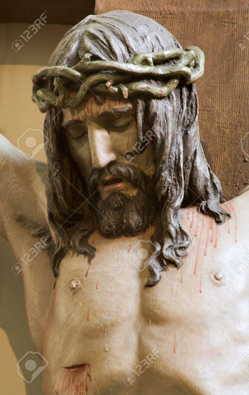 jesus christ on the cross from vienna church stock photo picture