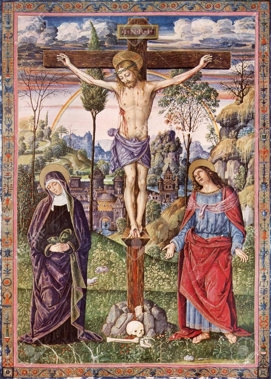 Eslovaquia 1937 Crucifixión De Jesús Virgen María Y San Juan