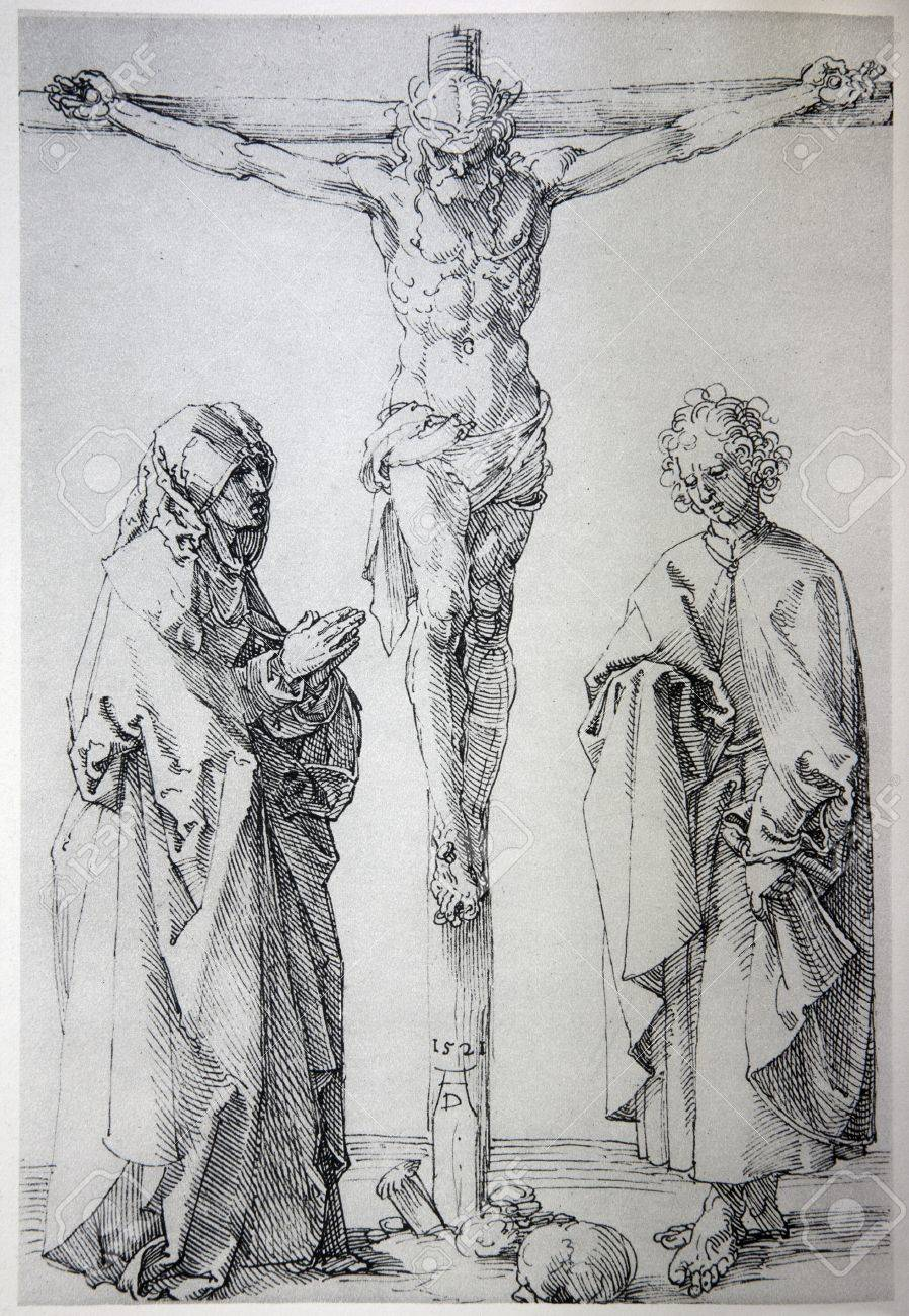 germany 1928 lithography of jesus on the cross by albert durer
