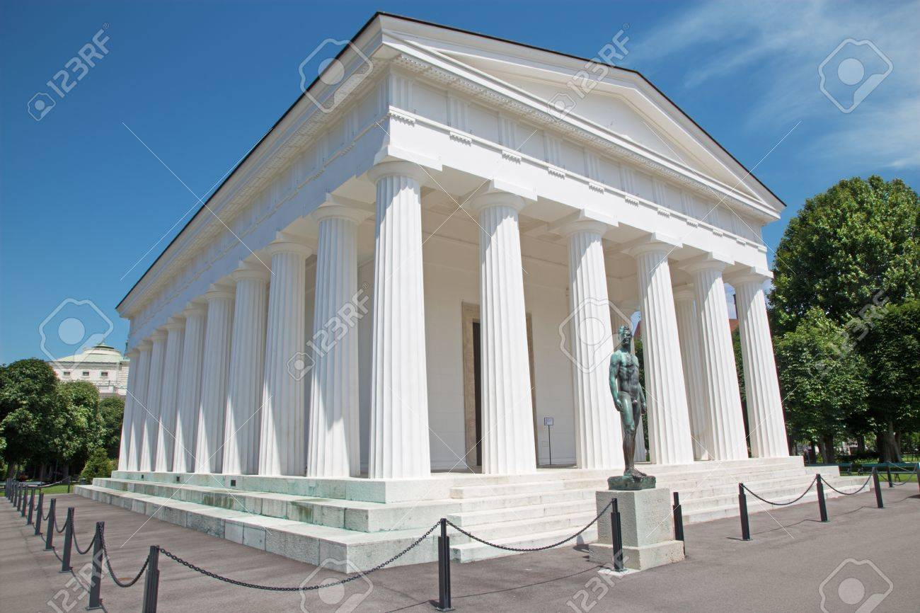 Vienna - Volksgarten. Theseus temple from years 1819 bis 1823 by Peter von Nobile Stock Photo - 21516030