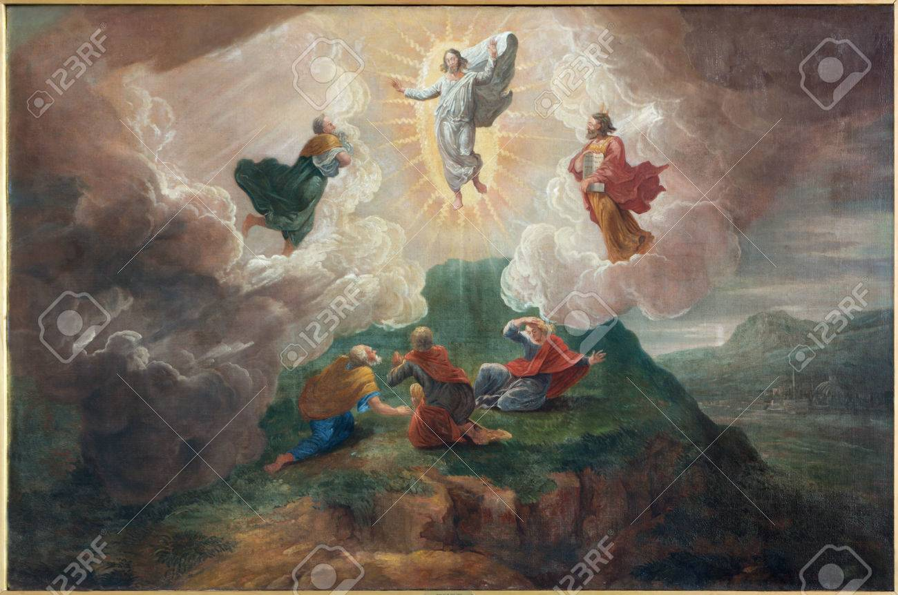 BRUGES, BELGIUM - JUNE 12, 2014: The Transfiguration of the Lord by D. Nollet (1694) in st. Jacobs church (Jakobskerk). Stock Photo - 31156225
