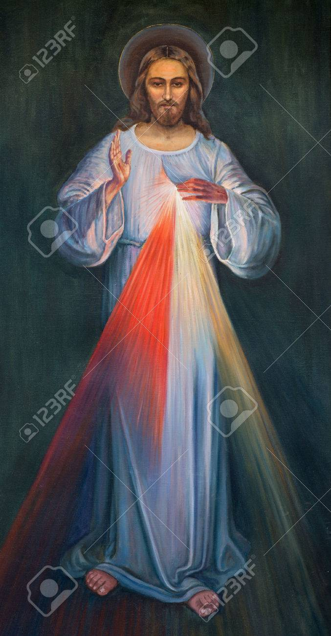 JERUSALEM, ISRAEL - MARCH 4, 2015: The modern paint of Jesus in Armenian Church Of Our Lady Of The Spasm by unknown artist. Stock Photo - 38897017