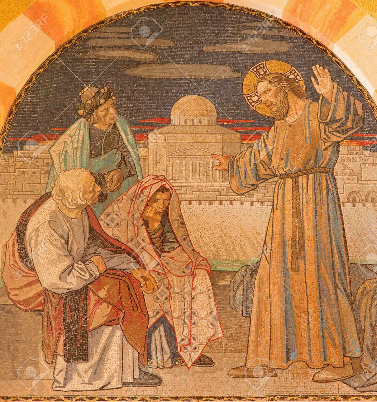 エルサレム, イスラエル - 2015 年 3 月 3 日: イエスは律法学者たちの ...