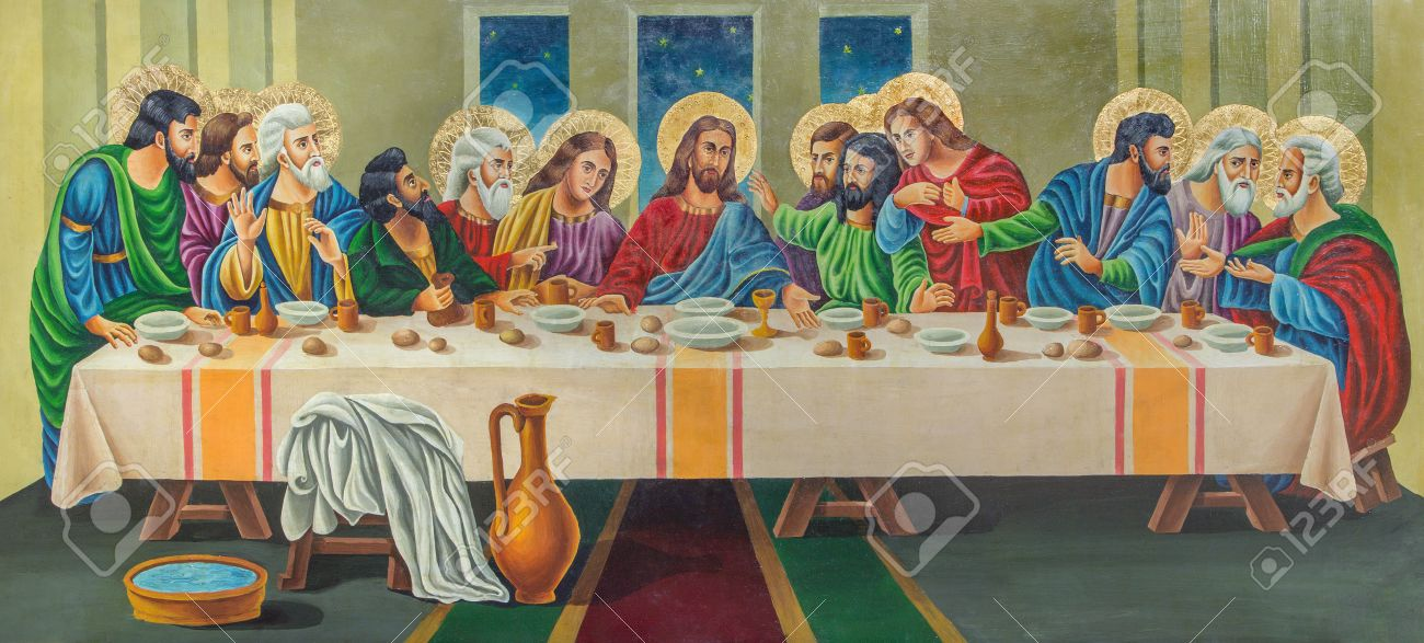 jerusalem israel march 3 2015 the painting the last supper