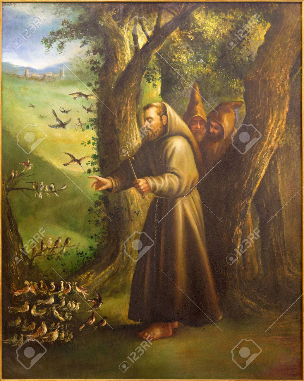 Cordoba Spain May 27 2015 The Modern Paint Of St Francis