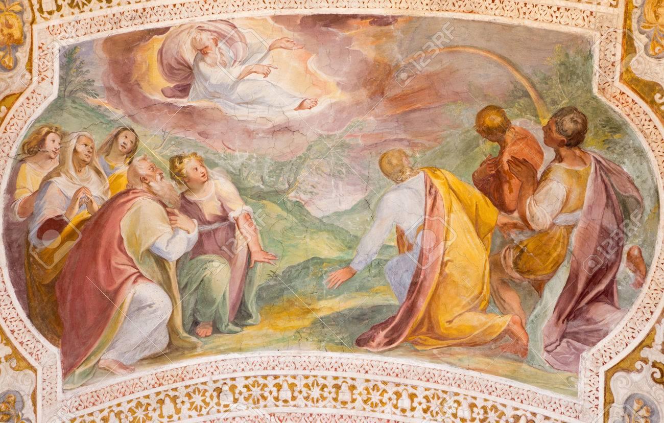 バルダッサーレ ・ クローチェ (1558年-1628 年) によって虹のノアで ...