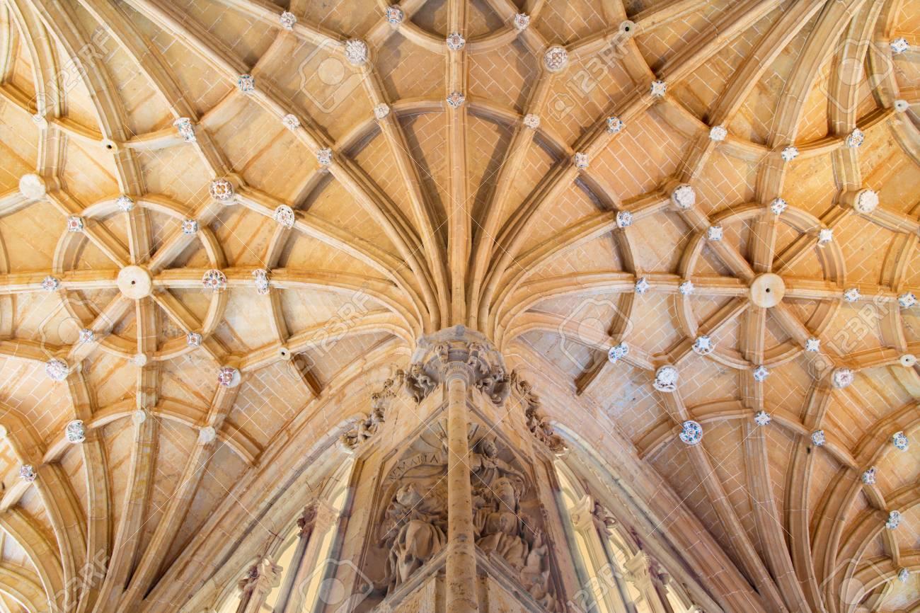 Salamanca Spain April 16 2016 The Vault Gothic Atrium Of