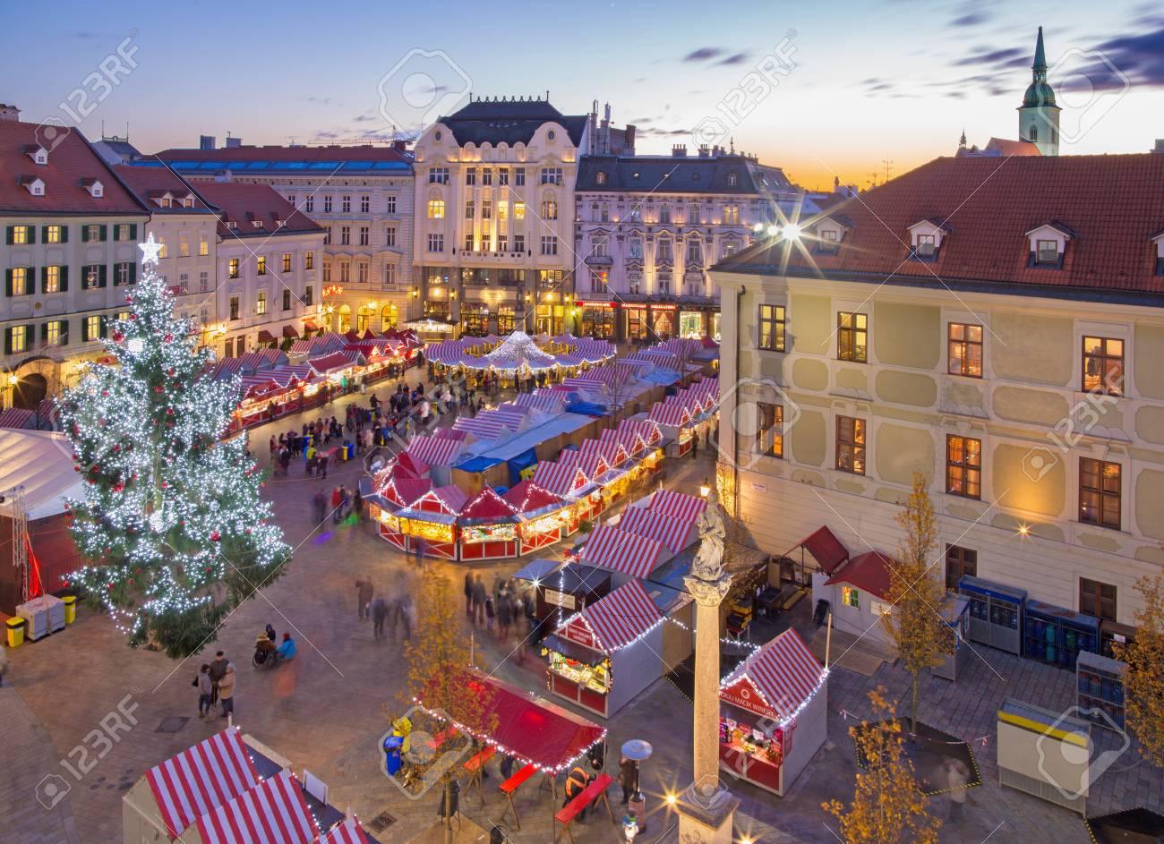 Christmas Bratislava.Bratislava Slovakia November 28 2016 Christmas Market On