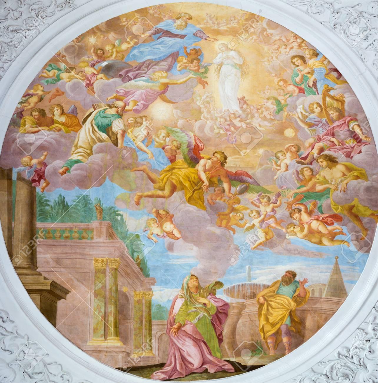 vienna austria july 30 2014 the fresco of die erwählung