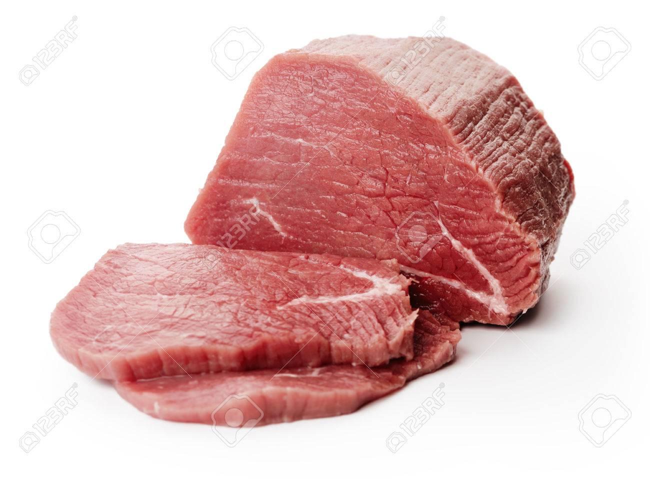 Raw fillet steaks on white - 23006718
