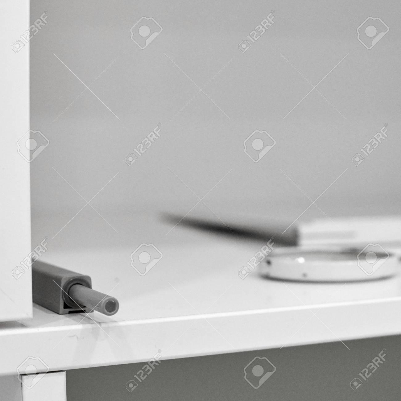 home and latch furniture at repairing for doors door magnetic stock photo ruler