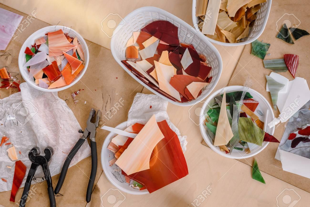 Mosaic maker workplace