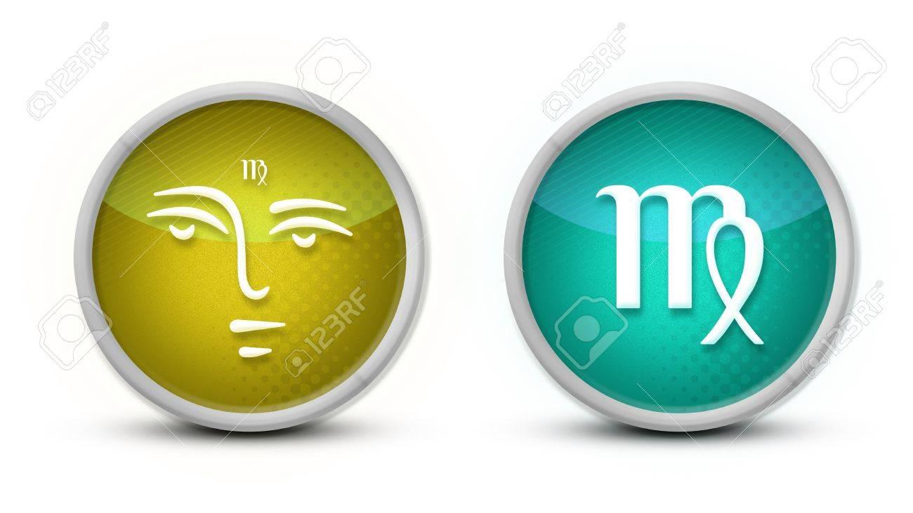 Virgo Zodiac Symbol with white background Stock Photo - 11717157