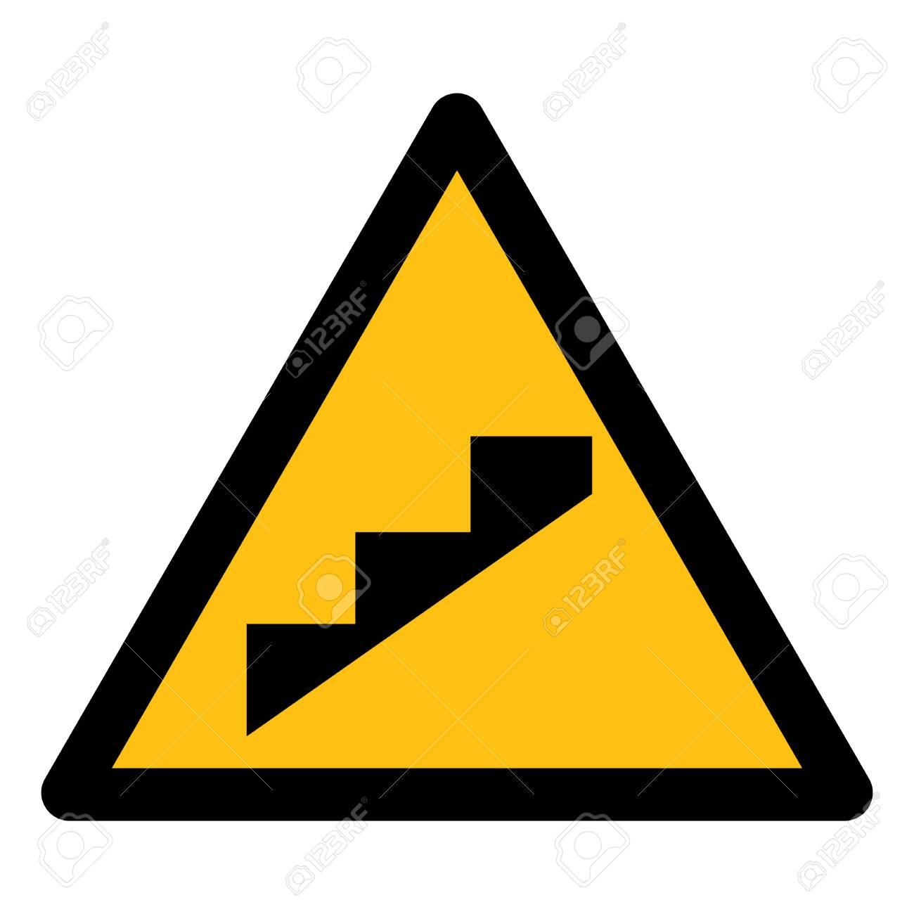 Beware Slope Step Symbol Isolate On White Background,Vector Illustration - 126053343