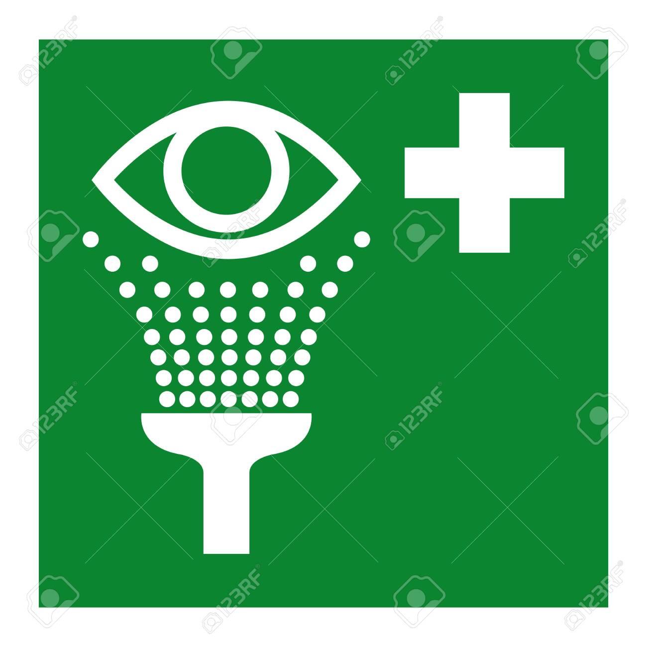 Eye Wash Station Symbol Isolate On White Background,Vector Illustration EPS.10 - 126258162
