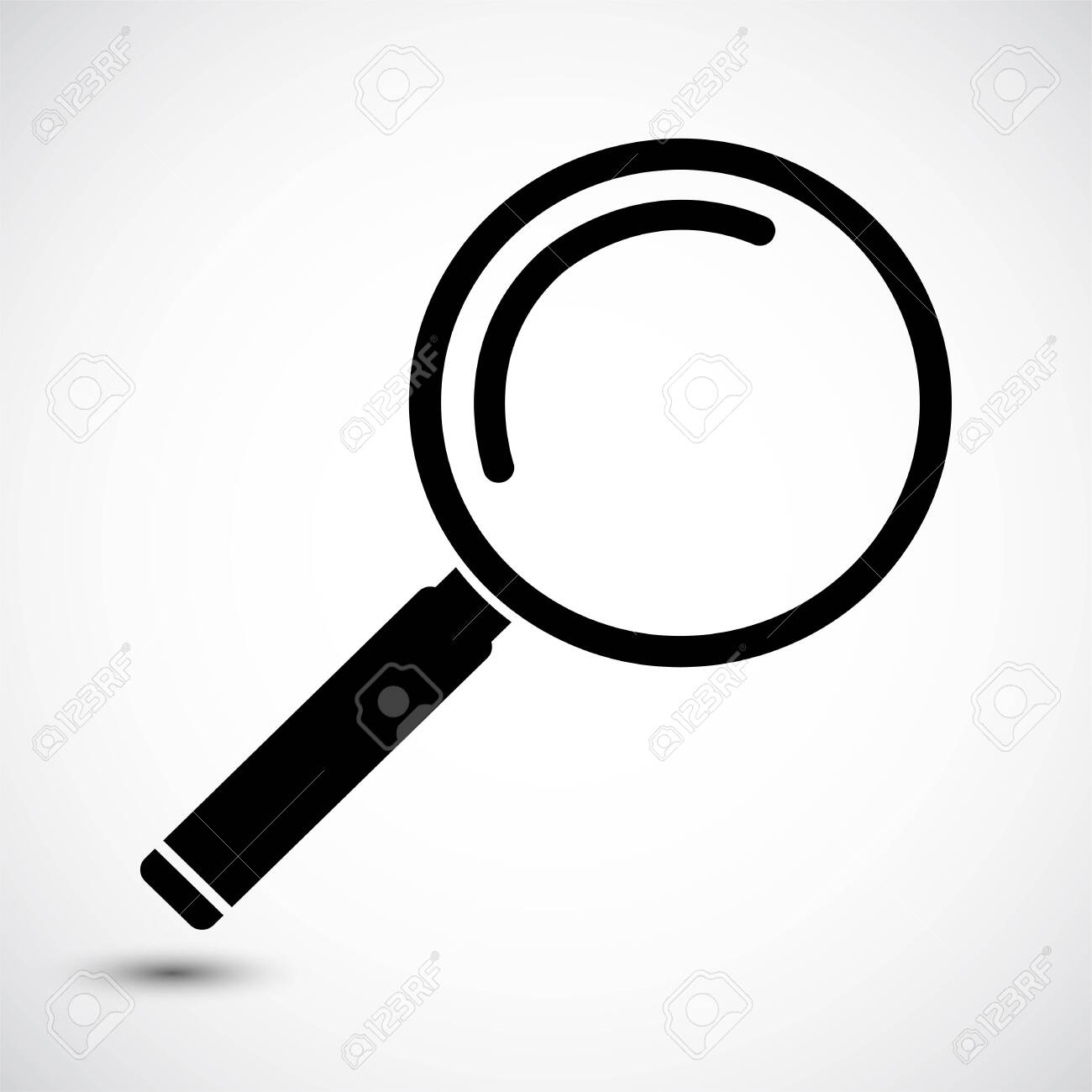 Magnifying Glass Icon on white background - 129945154