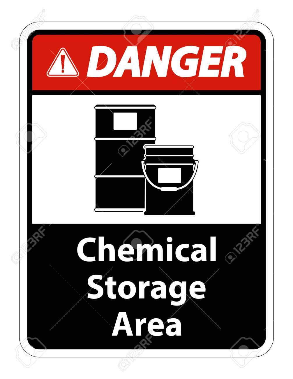 Danger Chemical Storage Symbol Sign Isolate on transparent Background,Vector Illustration - 145736692