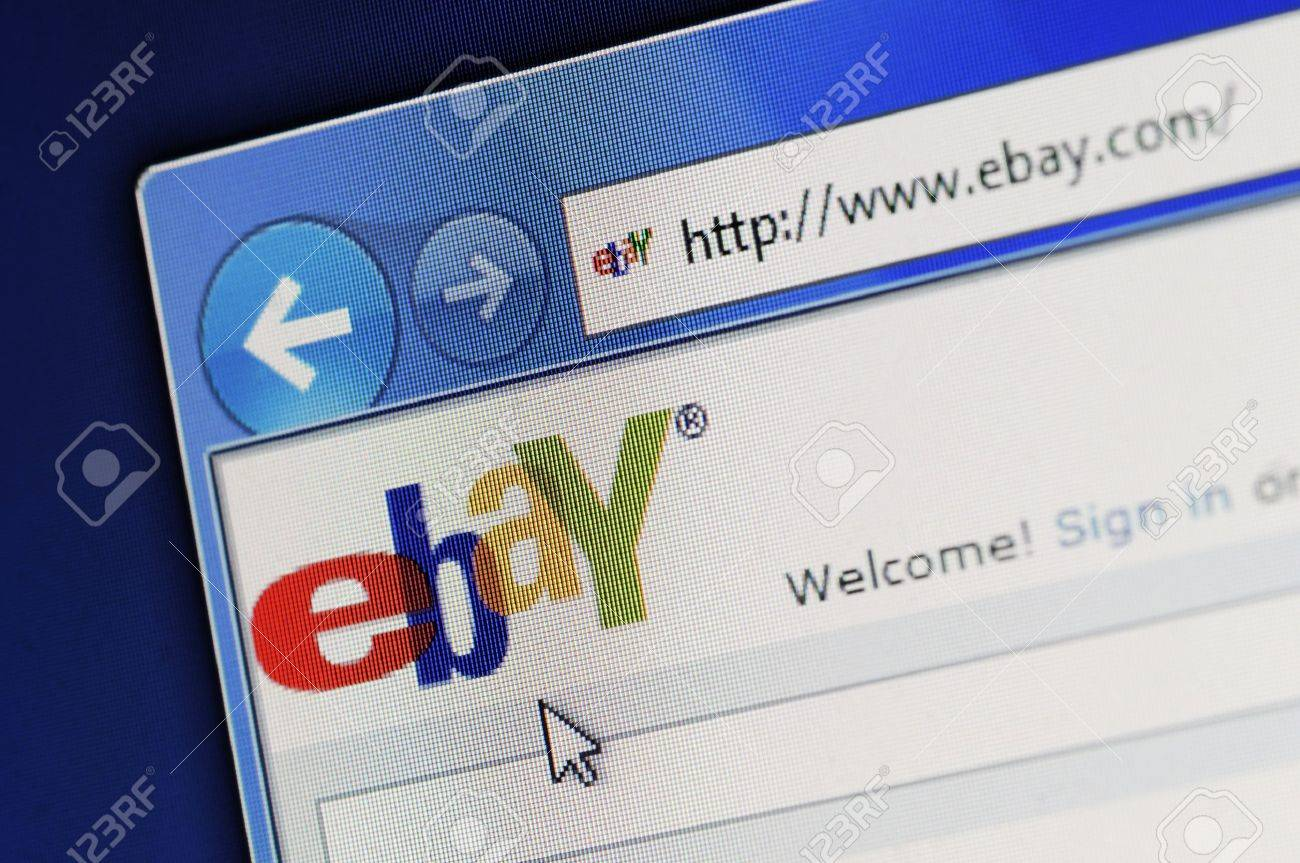 Münster, Germany - March 1, 2011: Part of ebay site in Internet Explorer browser on LCD screen. The US-based eBay Inc. operates the world's largest Internet auction house. The company was September founded in 1995. Stock Photo - 9204869