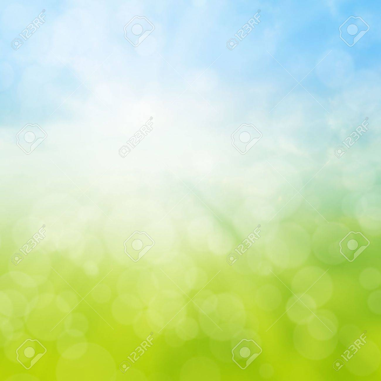 Spring Or Summer Abstract Background With Bokeh Lights Stock Photo