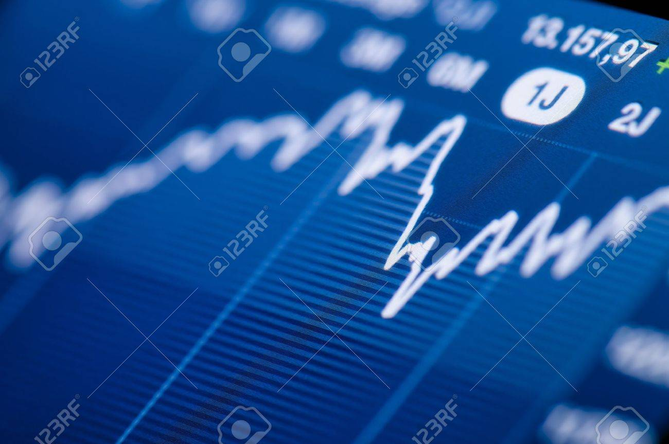 Close-up of a stock market graph on a high resolution LCD screen Stock Photo - 15449853