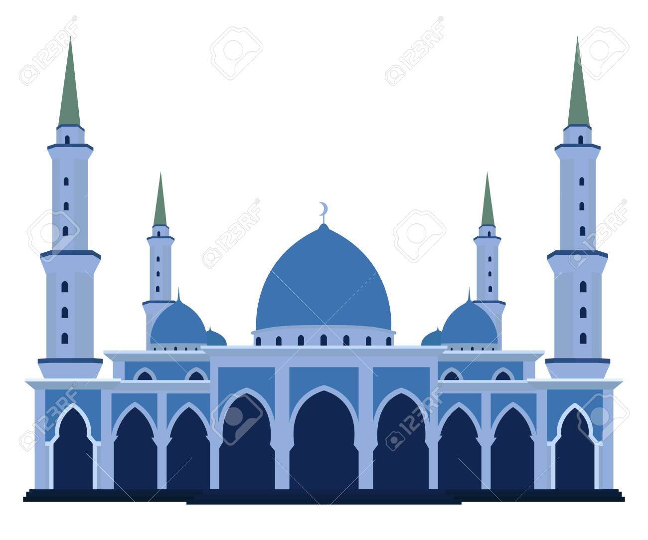 Vector of islamic mosque flat design style - 131836992