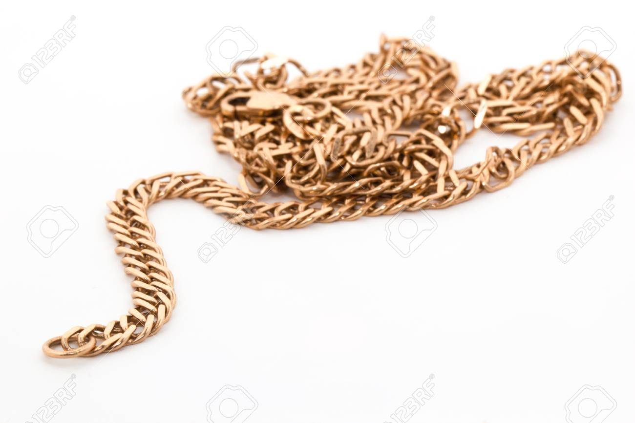 A gold chain isolated on a white background. Stock Photo - 17853582