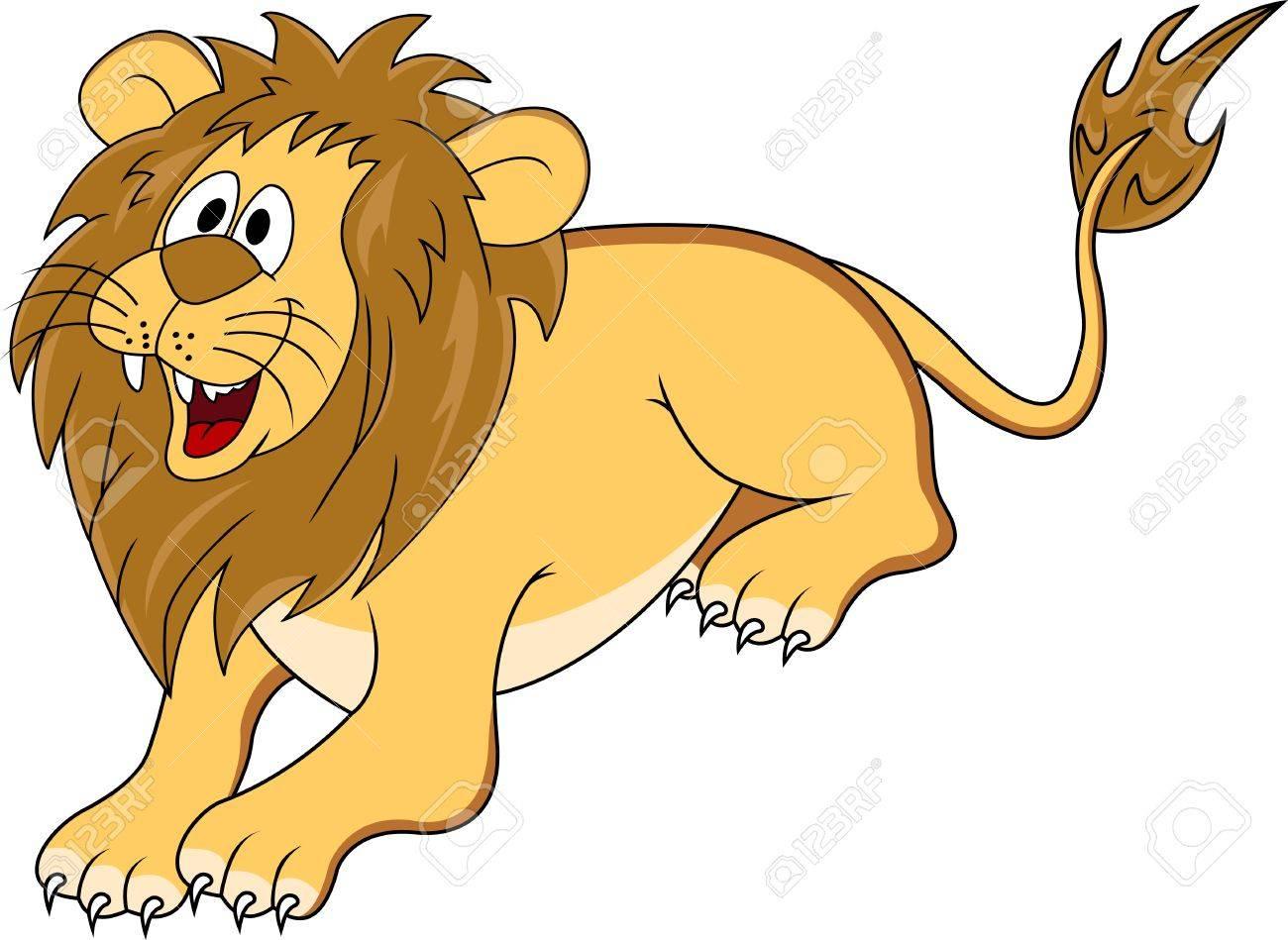 funny lion cartoon Stock Vector - 12542534
