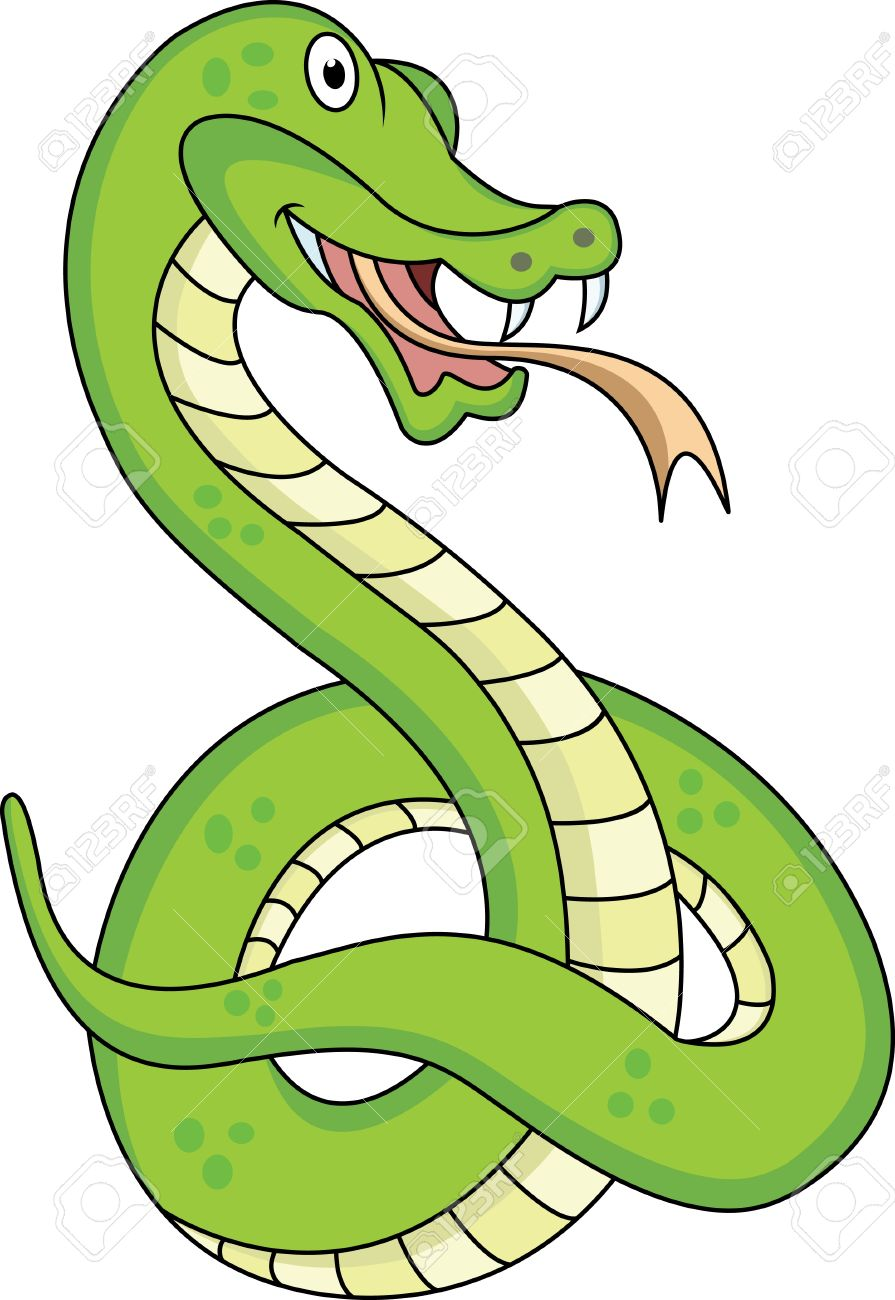 funny snake cartoon Stock Vector - 12542482