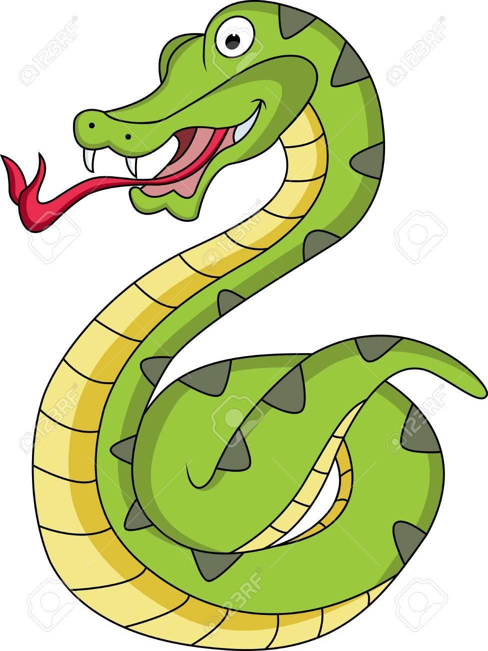 funny snake cartoon Stock Vector - 12542494