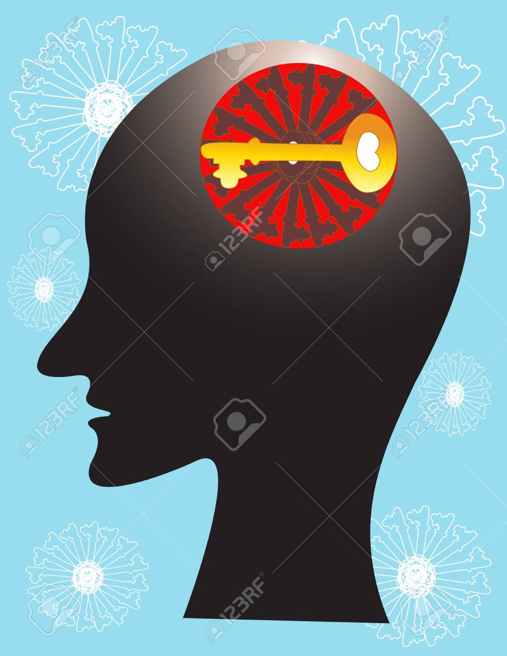 human thinking Stock Vector - 12542603