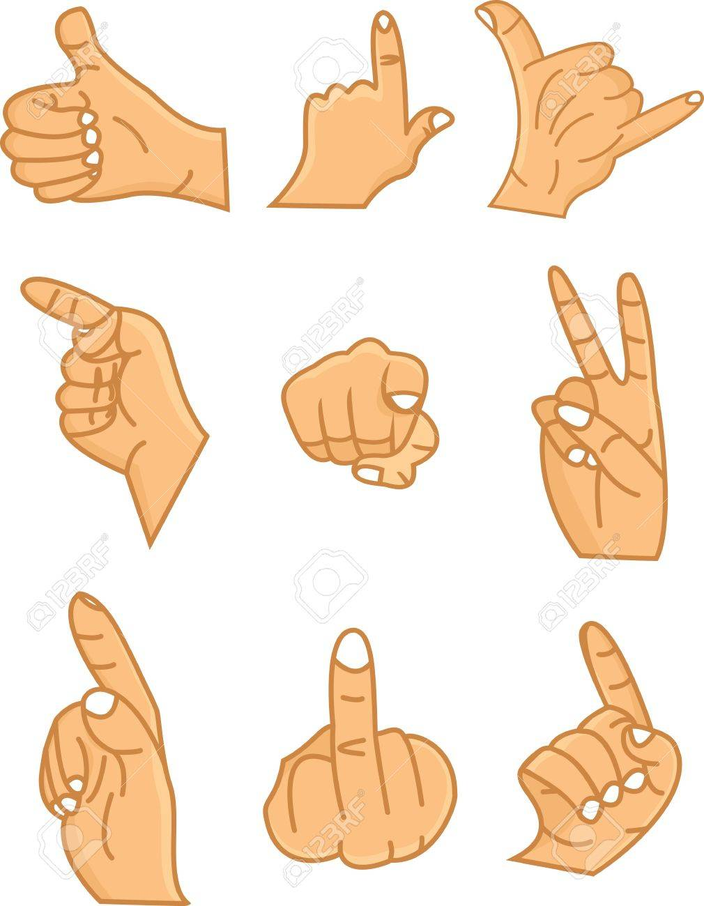 hands collection Stock Vector - 12542597
