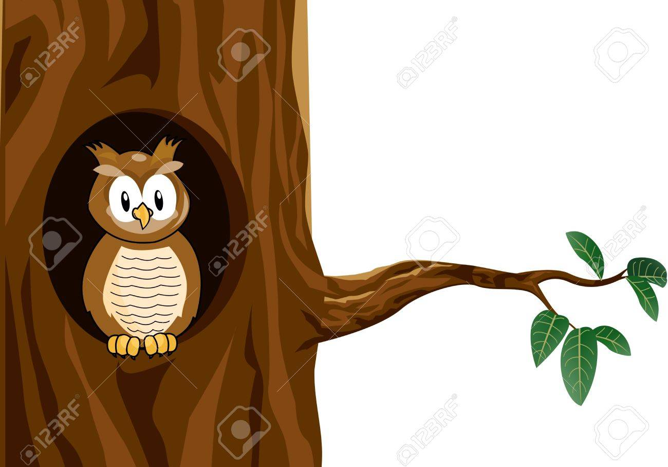 funny owl cartoon Stock Vector - 12542598