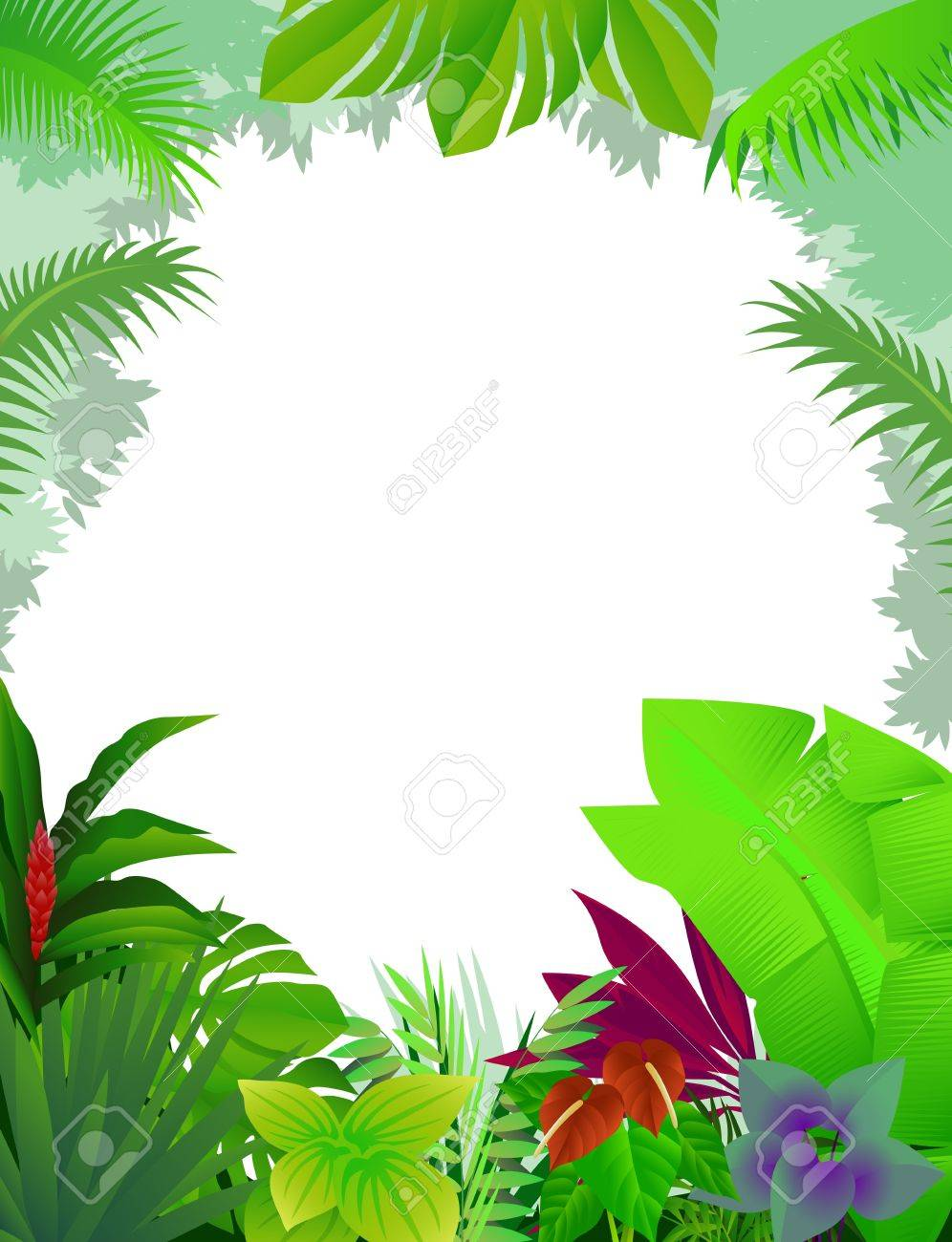 tropical forest background Stock Vector - 12544967