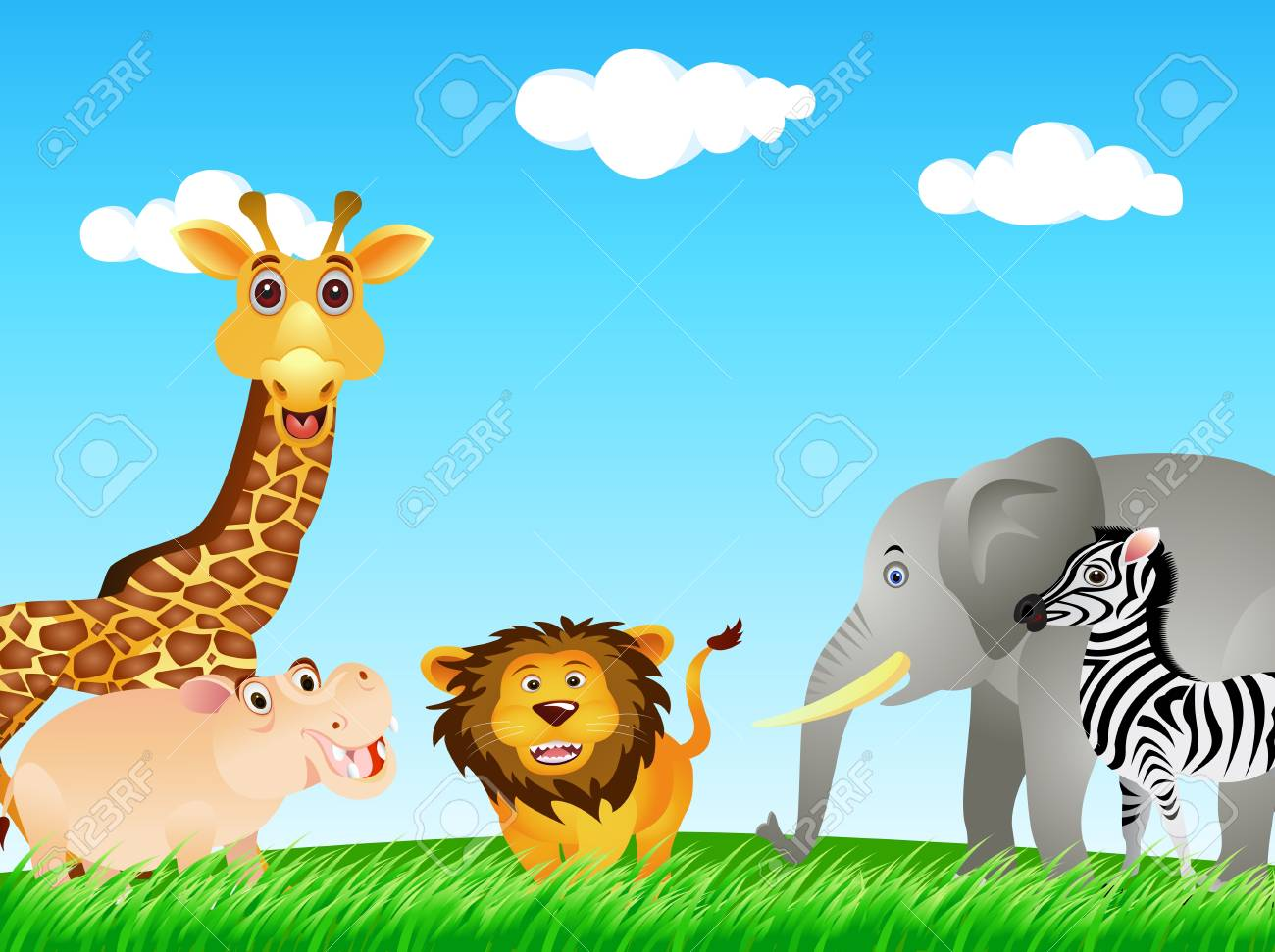 funny animal collection Stock Vector - 12832965