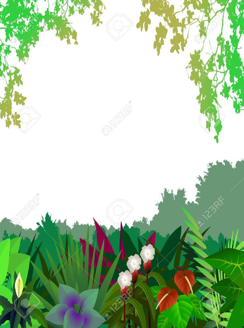 beautiful forest background Stock Vector - 12991422