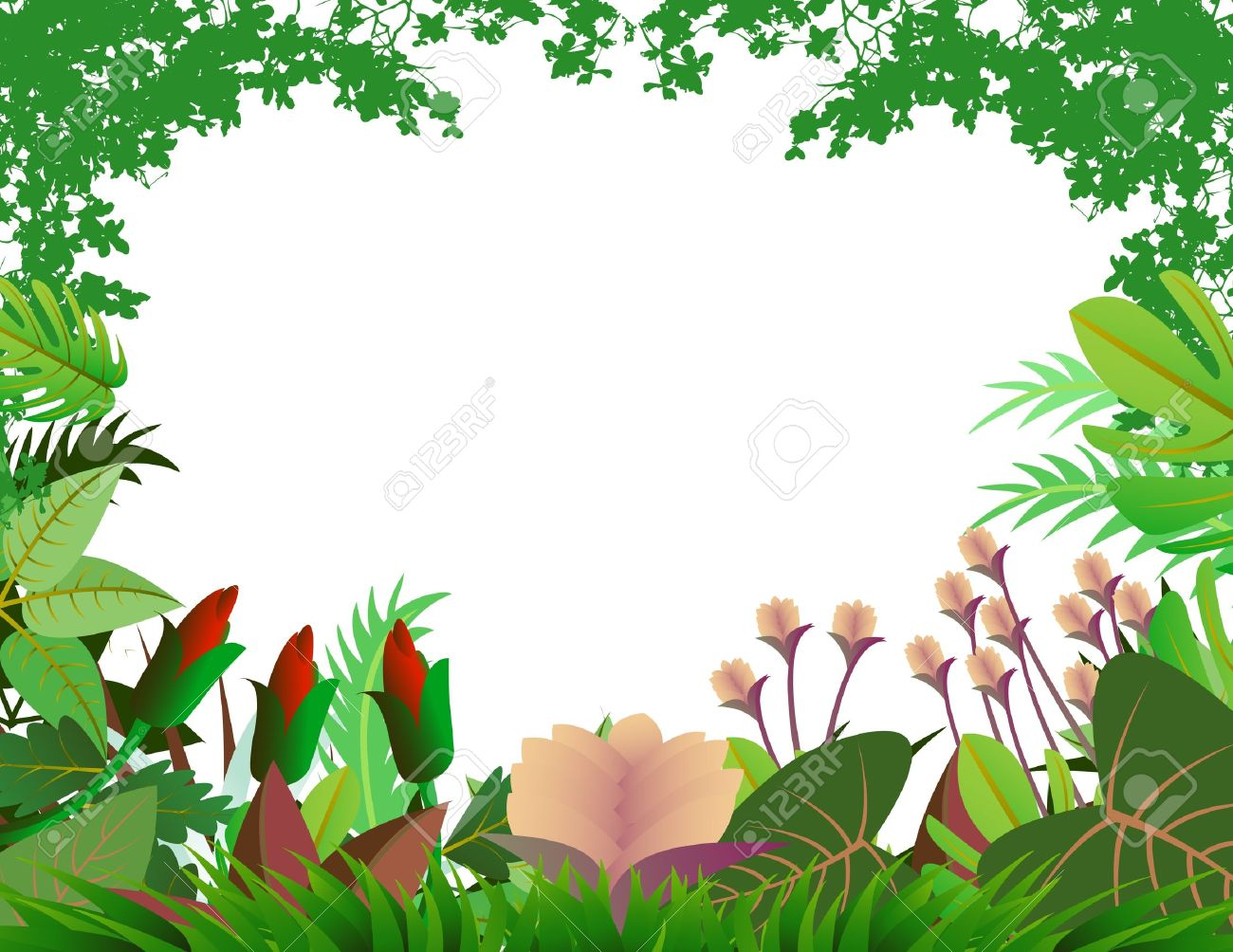 beautiful forest background Stock Vector - 13408500