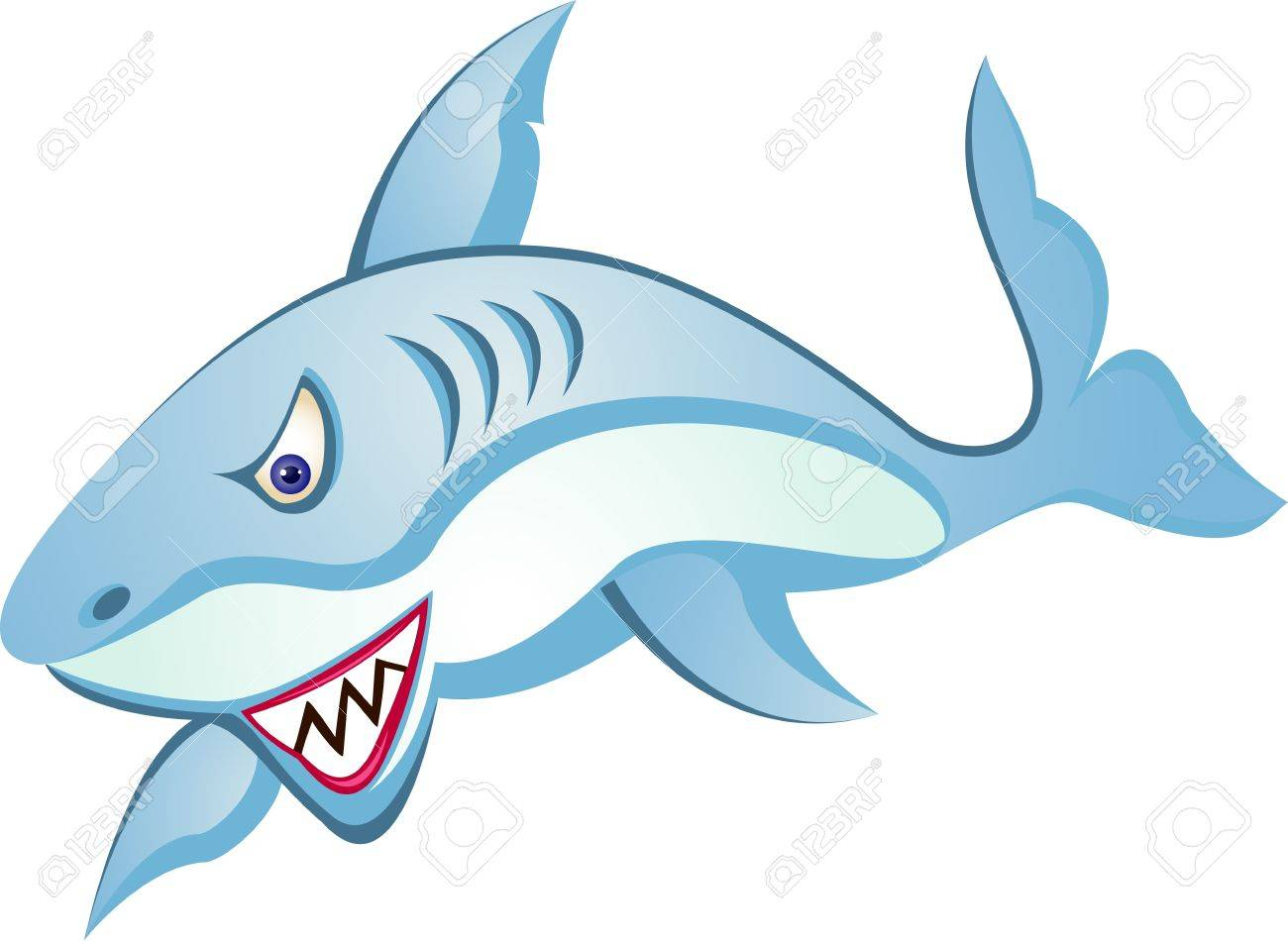 shark cartoon Stock Vector - 13408398