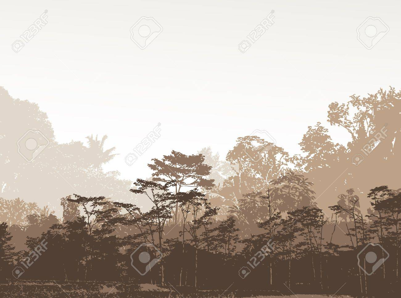 forest background silhouette Stock Vector - 14288270