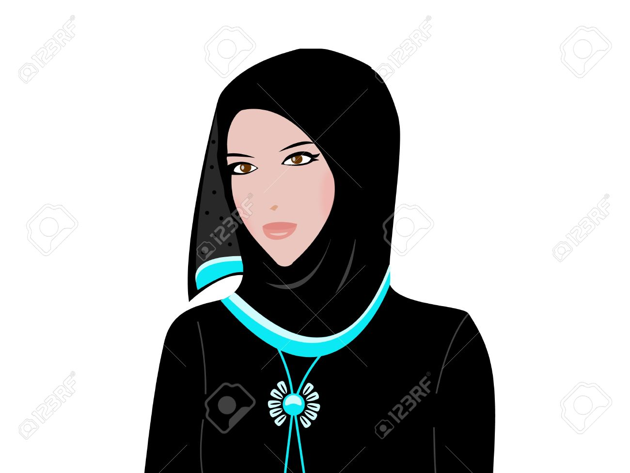 Arab woman wearing a traditional Arabci dress Stock Vector - 11929574