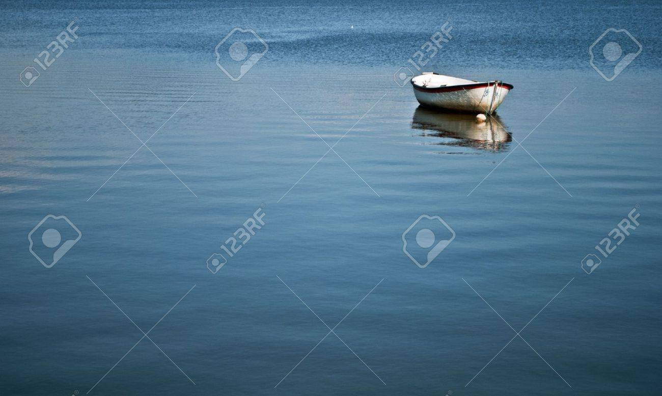 only boat on the lake puccini Stock Photo - 10312049