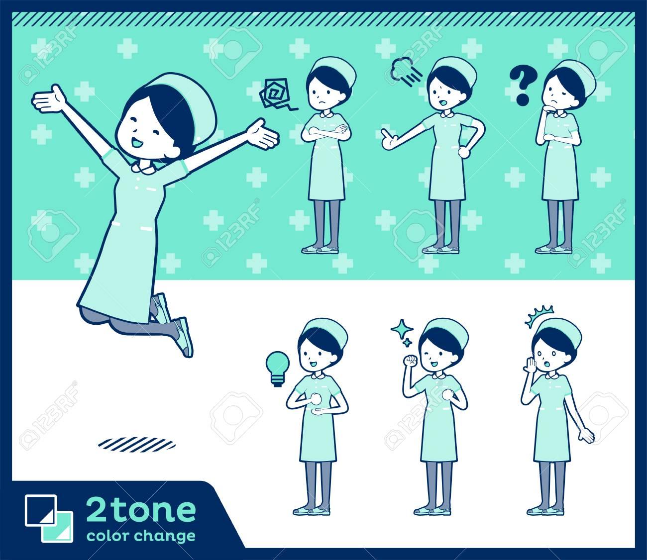 2 tone type Nurse wear women. - 95149956