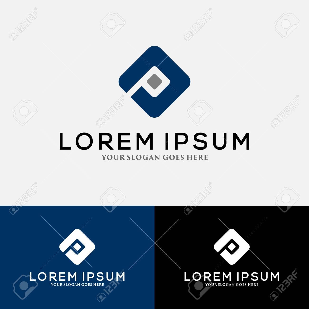 Letter P logo vector, icon design template elements - 149438170