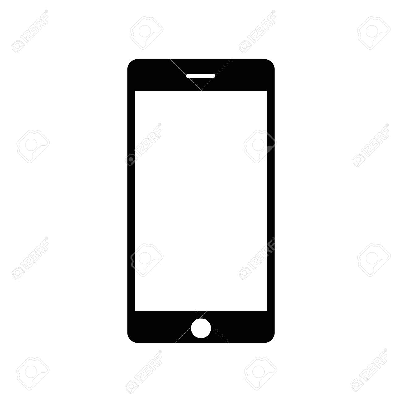 Smartphone icon. flat icon mobile handphone symbol - 165490624