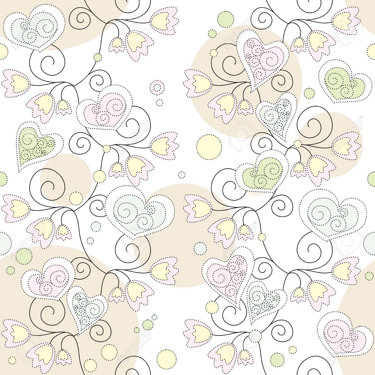 seamless floral romantic wallpaper Stock Vector - 6762602