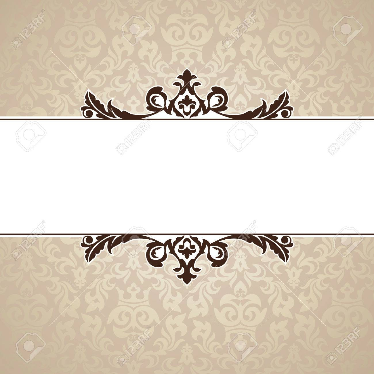 abstract cute decorative vintage frame   illustration Stock Vector - 8756468