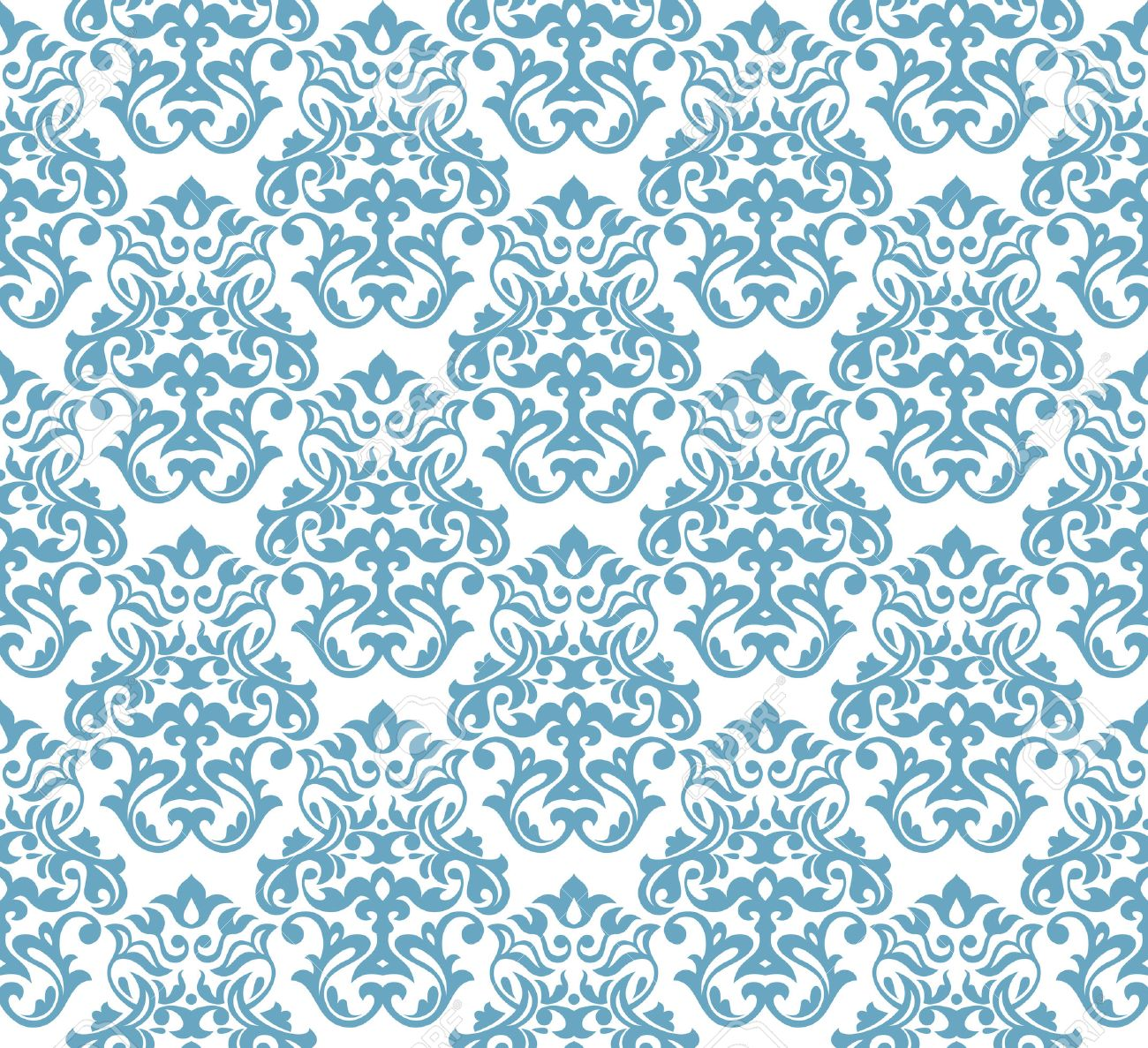 abstract seamless damask background wallpaper vector illustration Stock Vector - 8883155