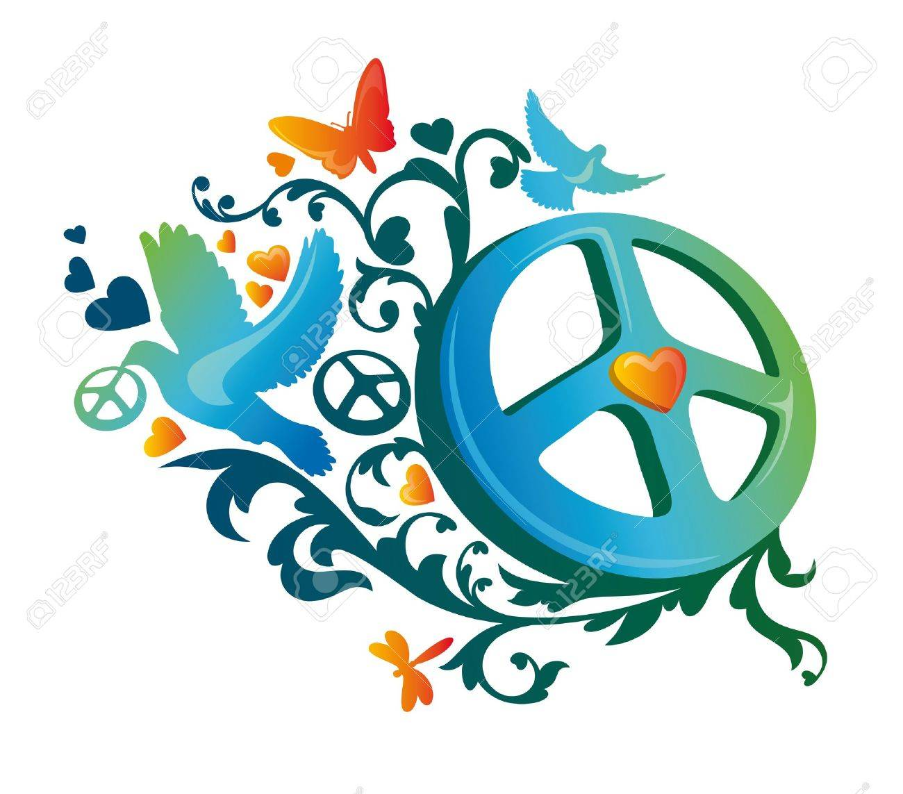 Peace sign images stock pictures royalty free peace sign photos abstract artistic hippie peace symbol illustration biocorpaavc
